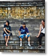 3 Men Watching Metal Print
