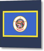 Minnesota Flag Metal Print