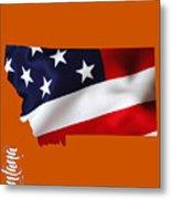 Montana State Map Collection Metal Print