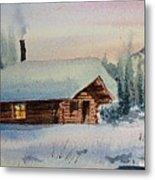 Montana Winter Metal Print