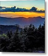 Mount Mimtchell Sunset Landscape In Summer Metal Print