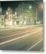 Newport Rhode Island City Streets In The Evening Metal Print