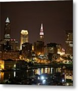 Nightlife In Cleveland Metal Print