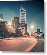 November, 2017, Charlotte, Nc, Usa - Early Morning In The City O Metal Print