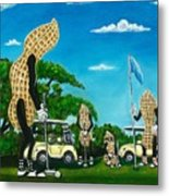 Nutz Bout Golf Metal Print