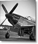 P 51 Mustang Metal Print