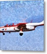 Painting Of Iskra Polish Air Force Team Metal Print