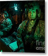 Pilots Sitting In The Cockpit Metal Print