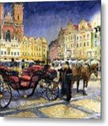 Prague Old Town Square Metal Print