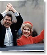 President Ronald Reagan And First Lady Metal Print