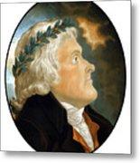 President Thomas Jefferson - Two Metal Print