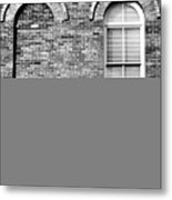 3 Quaters Black And White Metal Print