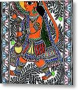 Radha Krishna Color Metal Print