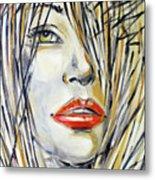 Red Lipstick 081208 Metal Print