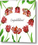 Red Tulips Metal Print