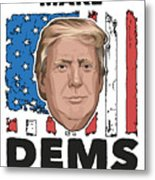 Reelect Trump For President Keep America Great Light Metal Print