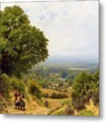 Returning From The Harvest Metal Print