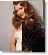 Rita Hayworth, Ca. 1940s Metal Print