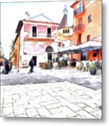 San Felice Circeo Square Metal Print