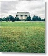 Scenes Around Lincoln Memorial Washington Dc Metal Print