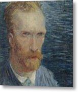 Self-portrait Paris July   August 1887 Vincent Van Gogh 1853  1890 Metal Print