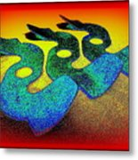 3 Serpents In The Sand  Metal Print