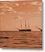 3 Ships  Gloucester Harbor Photo Taken In 2016 From My Kayak Metal Print