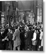 Silent Film Still: Crowds Metal Print