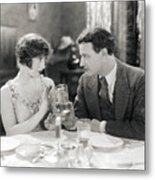 Silent Film Still: Drinking Metal Print