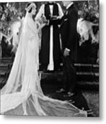 Silent Film Still: Wedding Metal Print