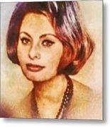 Sophia Loren, Vintage Hollywood Actress Metal Print