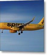 Spirit Airlines Airbus A320-232 Metal Print
