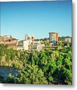 Spokane Washington City Skyline And Streets Metal Print