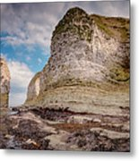 Stack And Chalk Cliff Metal Print