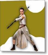 star Wars Rey Collection Metal Print