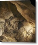 Stone-age Cave Paintings, Chauvet, France 3 Metal Print