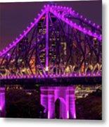 Story Bridge In Brisbane, Queensland Metal Print
