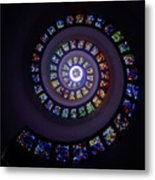 Spiral Stained Glass Metal Print