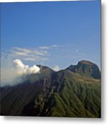 Stromboli Volcano On The Island Of Stromboli Metal Print