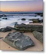 Sunrise And The Sea Metal Print