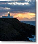 Sunset At Strumble Head Lighthouse Metal Print