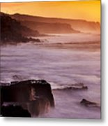 Sunset In The Portuguese Coast Metal Print
