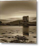 Sunset Over Castle Stalker,  Scotland, United Kingdom Metal Print