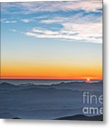 Sunset Over The La Silla Observatory Metal Print