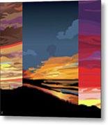 3 Sunsets Metal Print