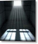 Sunshine Shining In Prison Cell Window Metal Print