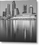 Tampa Bay Black And White Metal Print