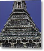 Temple Detail In Bangkok Thialand Metal Print