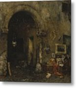 The Antiquary Shop Metal Print