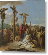 The Lamentation At The Foot Of The Cross Metal Print
